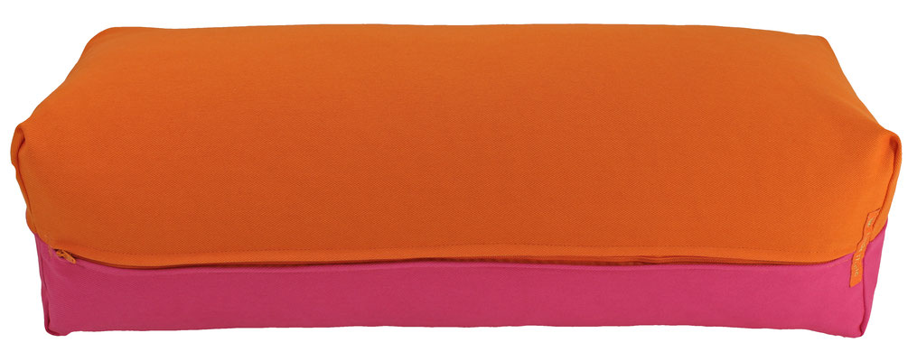Yoga Bolster eckig Köln orange + pink