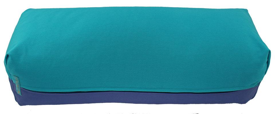 Yoga Bolster eckig Köln türkis + jeansblau