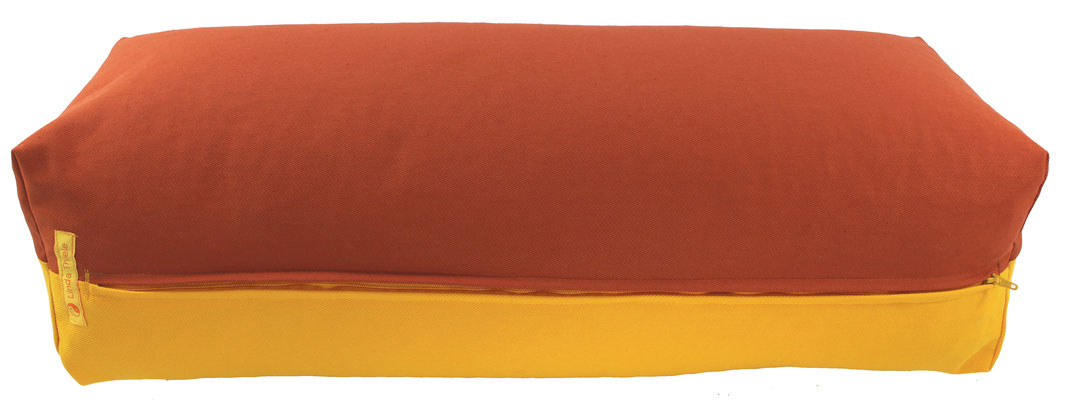 Yoga Bolster eckig Köln terracotta + curry