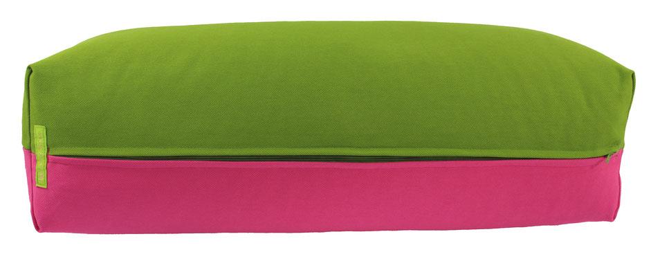 Yoga Bolster eckig Köln kiwi + pink