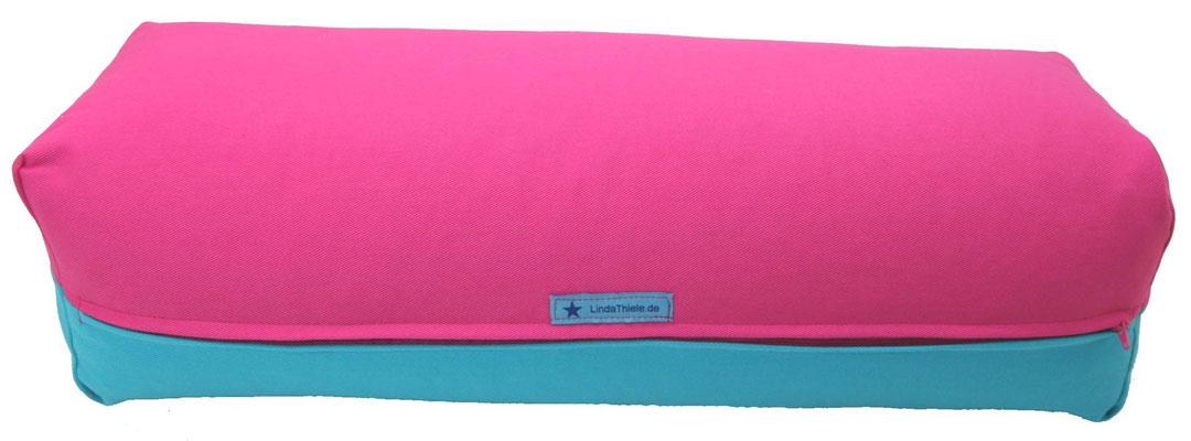 Yoga Bolster eckig Colorline türkis + pink