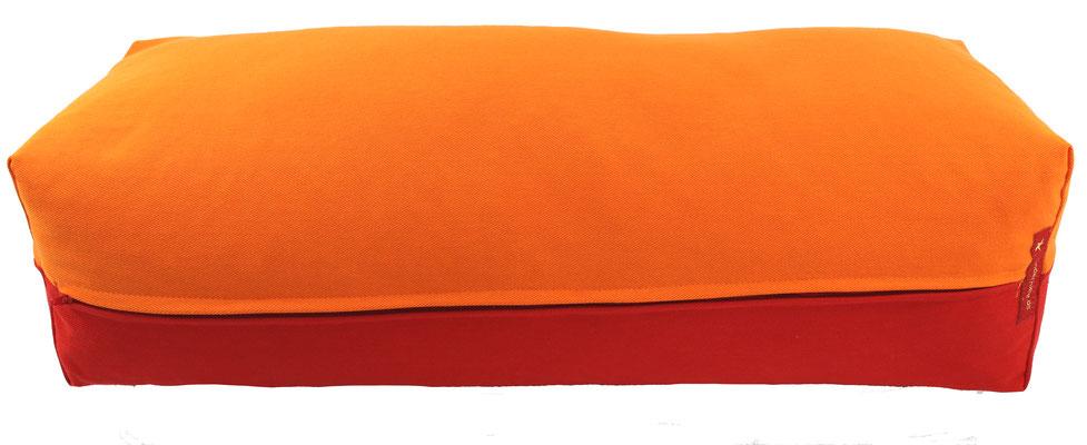 Yoga Bolster eckig Köln orange + rot