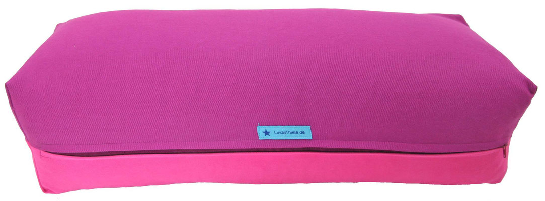 Yoga Bolster eckig Köln rotviolett + pink