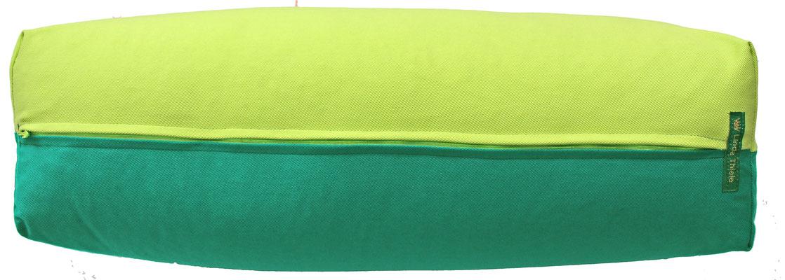 Yoga Bolster eckig Köln hellgrün + seegrün