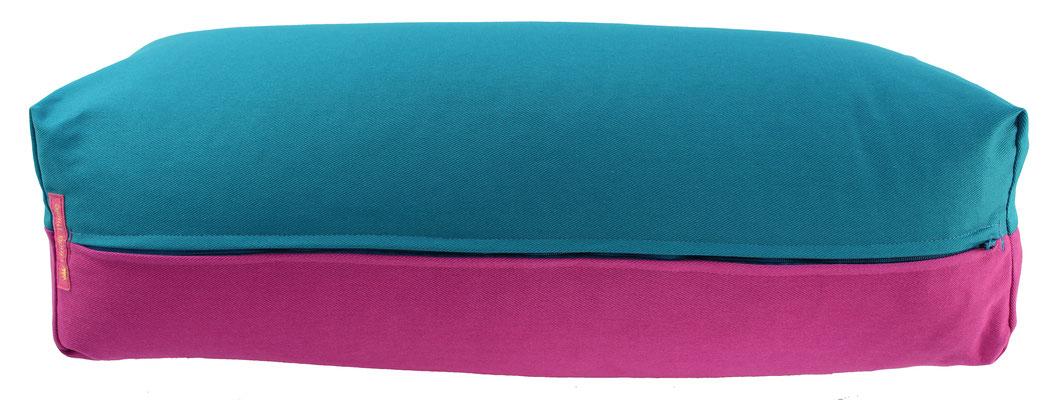 Yoga Bolster eckig Köln petrol + rotviolett