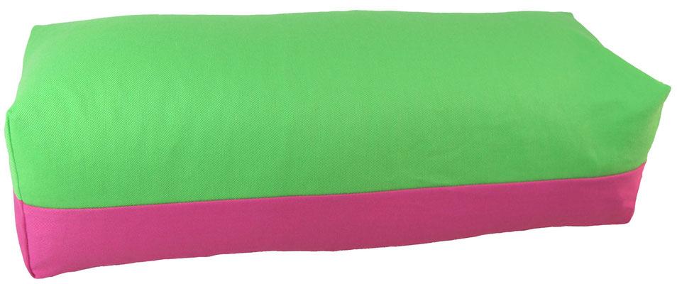 Yoga Bolster eckig Köln giftgrün + pink