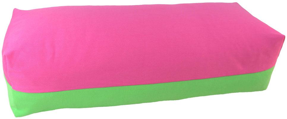 Yoga Bolster eckig Köln pink + giftgrün