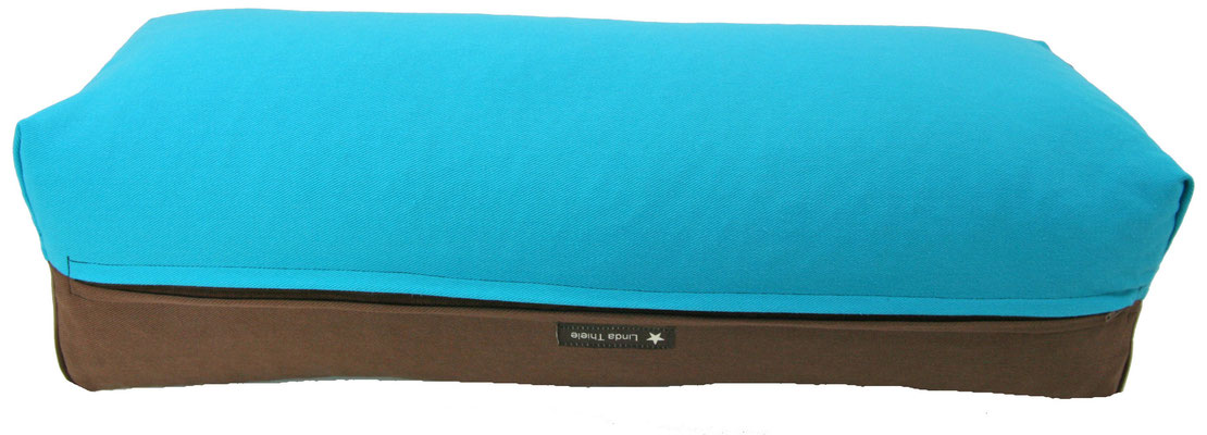 Yoga Bolster eckig Colorline türkis + braun