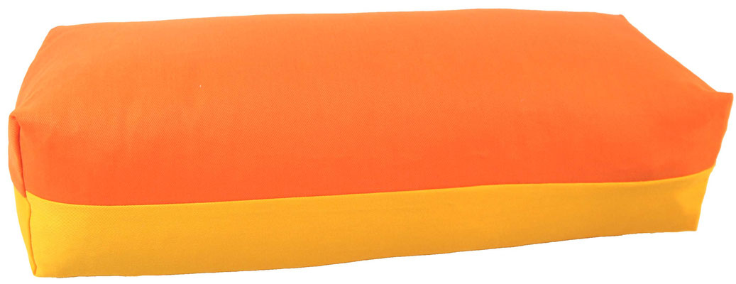 Yoga Bolster eckig Köln orange + sonne