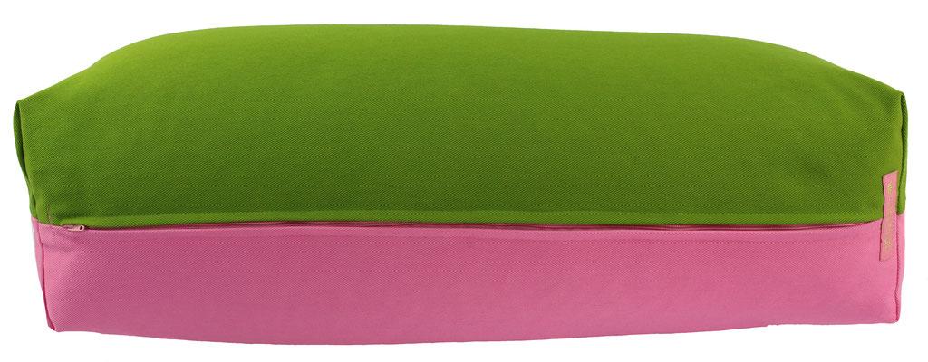Yoga Bolster eckig Köln kiwi + rosa