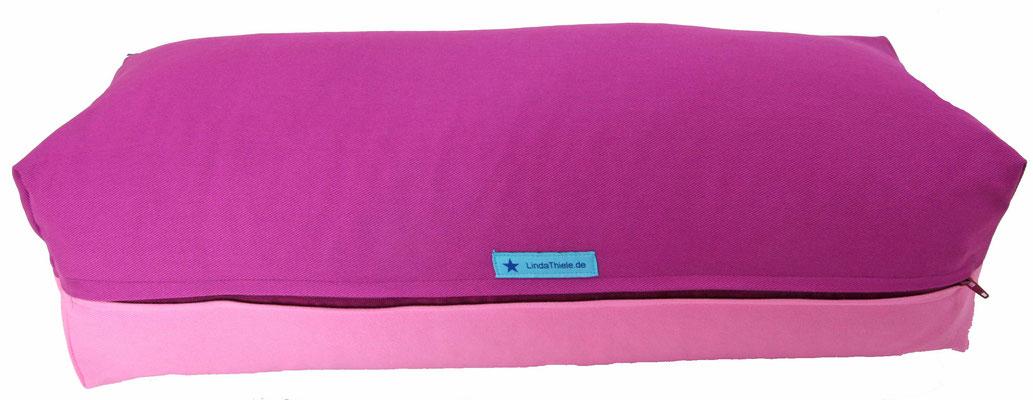 Yoga Bolster eckig Köln rotviolett + rosa