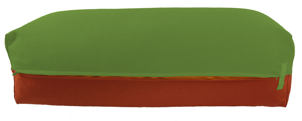 Yoga Bolster eckig Köln kiwi + terracotta
