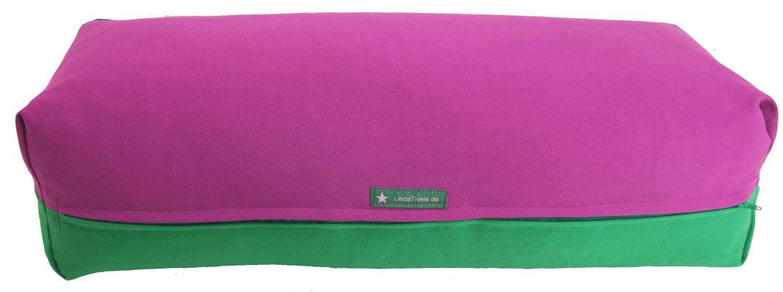 Yoga Bolster eckig Köln rotviolett + grasgrün
