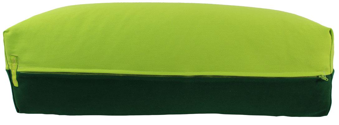 Yoga Bolster eckig Köln apfel + dunkelgrün