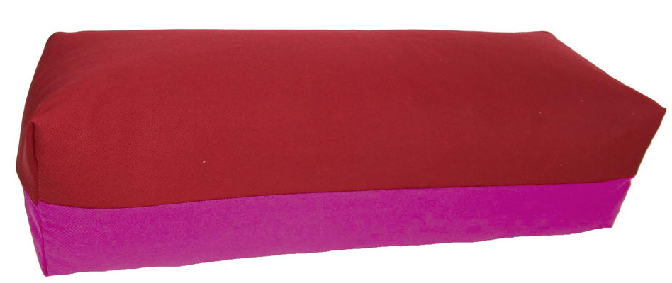 Yoga Bolster eckig Köln bordeaux + rotviolett