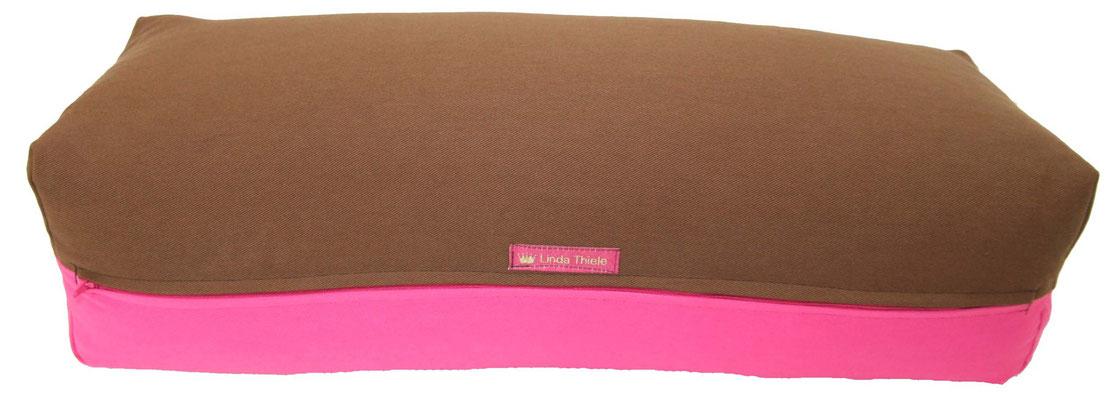 Yoga Bolster eckig Köln braun + pink