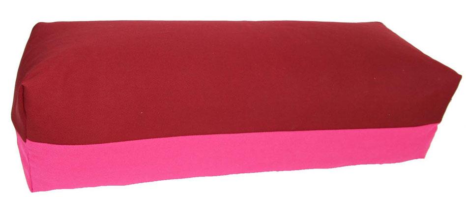 Yoga Bolster eckig Köln bordeaux + pink