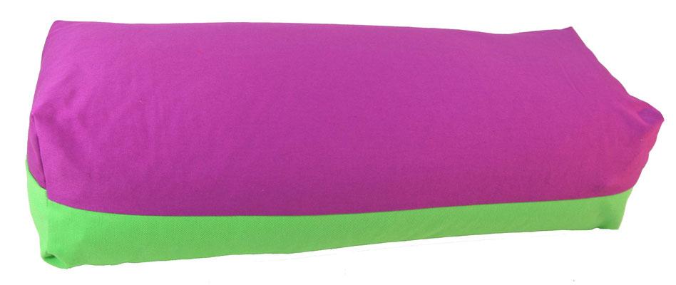 Yoga Bolster eckig Köln rotviolett + giftgrün