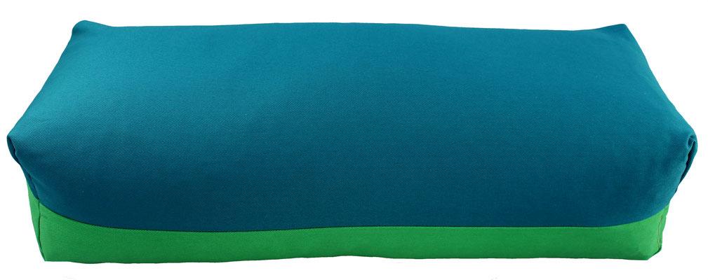 Yoga Bolster eckig Köln petrol + grasgrün
