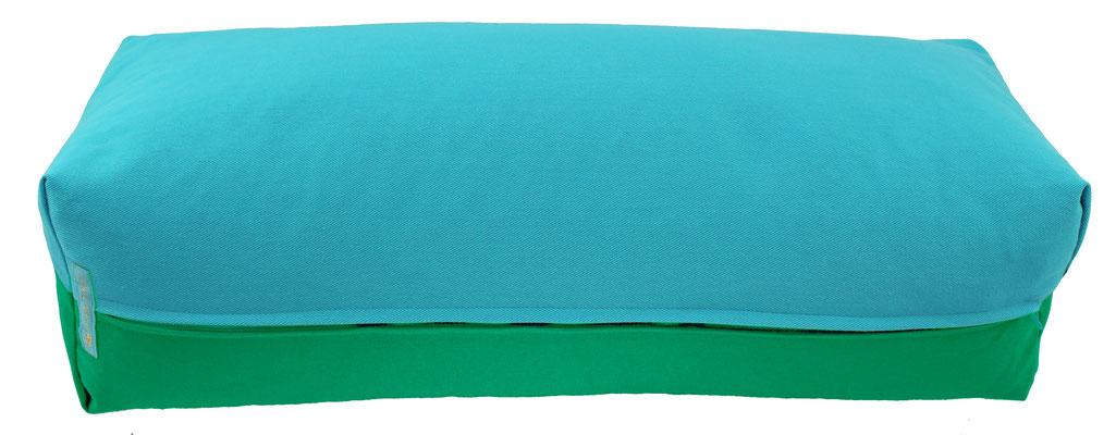 Yoga Bolster eckig Colorline türkis + seegrün