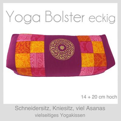 Designer Yoga Bolster eckig
