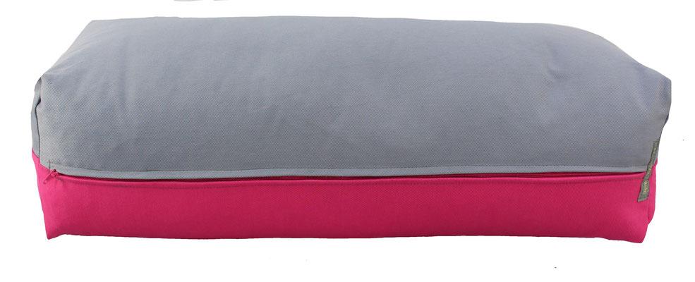 Yoga Bolster eckig Köln silbergrau + pink