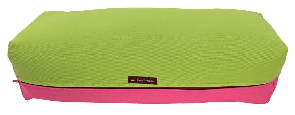 Yoga Bolster eckig Köln hellgrün + pink