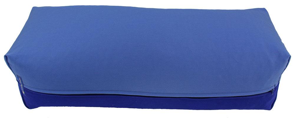 Yoga Bolster eckig Köln jeansblau + tinte