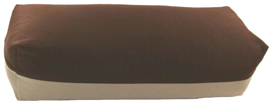 Yoga Bolster eckig Colorline braun + beige
