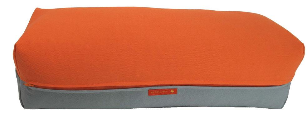 Yoga Bolster eckig Köln orange + silbergrau