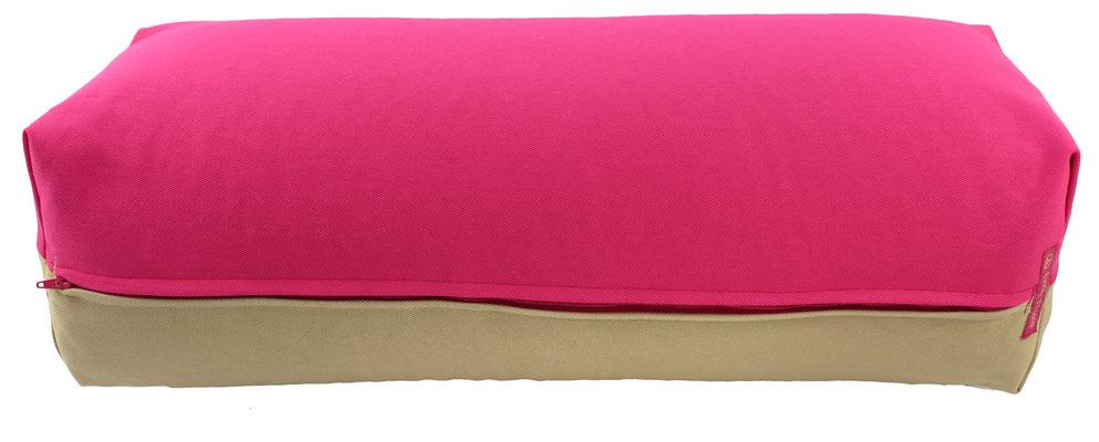 Yoga Bolster eckig Köln pink + beige