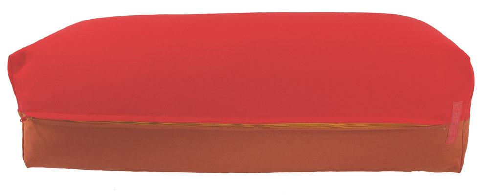 Yoga Bolster eckig Köln rot + terracotta