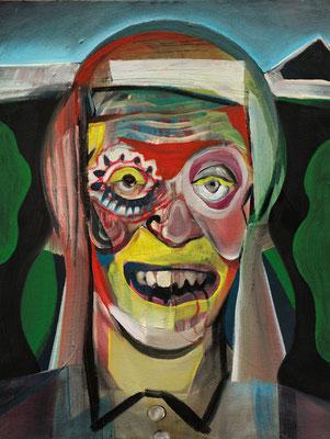 Phyllis Cosby, (the Legacy, Nr 39) --- oil on canvas --- 30,5 cm  x 40,6 cm --- 2019