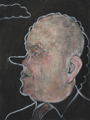 Jonathan Hirst, (the Legacy, Nr 28) --- oil on  canvas ---  30,5 cm  x 40,6 cm --- 2019