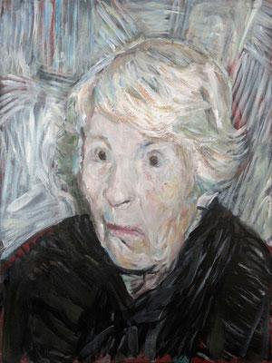Monica Munch, (the Legacy, Nr 4) --- oil on  canvas ---  30,5 cm  x 40,6 cm --- 2017