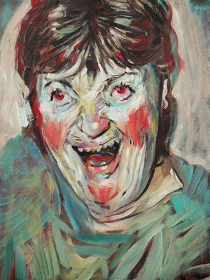 Kate Mccartney, (the Legacy, Nr 16) --- oil on  canvas ---  30,5 cm  x 40,6 cm--- 2018