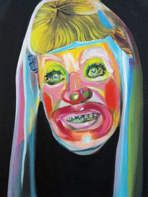 Sandy Hadid (the Legacy, Nr 54) --- oil on canvas --- 30,5 cm  x 40,6 cm --- 2020