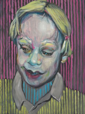 Boy Culkin, (the Legacy, Nr 27) --- oil on  canvas ---  30,5 cm  x 40,6 cm --- 2019