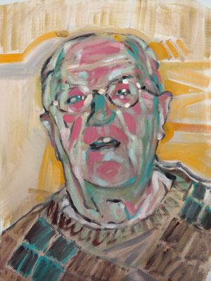 Chris Hockney, (the Legacy, Nr 1) --- oil on  canvas ---  30,5 cm  x 40,6 cm --- 2017