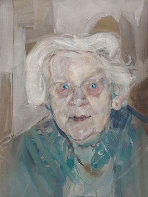 Tracy Sherman, (the Legacy, Nr 2) --- oil on  canvas ---  30,5 cm  x 40,6 cm --- 2017