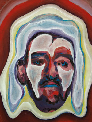 Judas Christ, (the Legacy, Nr 32) --- oil on  canvas ---  30,5 cm  x 40,6 cm --- 2019