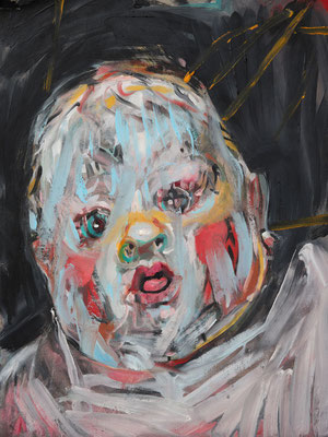 Josephine Bacon, (the Legacy, Nr 13) --- oil on  canvas ---  30,5 cm  x 40,6 cm --- 2018