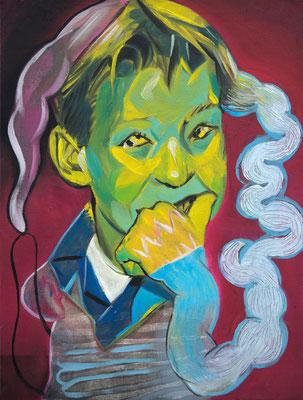 Pelle Langstrumpf (the Legacy, Nr 77) --- oil on canvas --- 30,5 cm  x 40,6 cm --- 2020