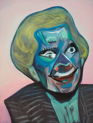 Deborah Katz (the Legacy, Nr 61) --- oil on canvas --- 30,5 cm  x 40,6 cm --- 2020