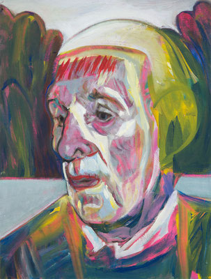 Otis Goodall (the Legacy, Nr 76) --- oil on canvas --- 30,5 cm  x 40,6 cm --- 2020