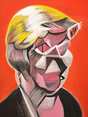 Alex Trump (the Legacy, Nr 62) --- oil on canvas --- 30,5 cm  x 40,6 cm --- 2020