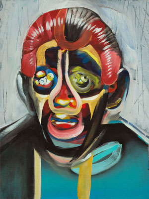 Claes Koons, (the Legacy, Nr 36) --- oil on  canvas ---  30,5 cm  x 40,6 cm --- 2019