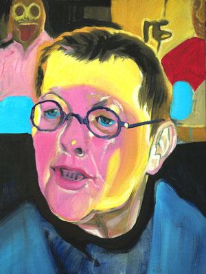 Dominique Satie, (the Legacy, Nr 21) --- oil on  canvas ---  30,5 cm  x 40,6 cm --- 2018