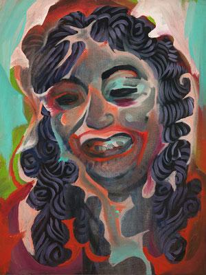 Fatima Jackson, (the Legacy, Nr 31) --- oil on  canvas ---  30,5 cm  x 40,6 cm --- 2019