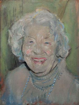 Marilyn Vreeland, (the Legacy, Nr 5) --- oil on  canvas ---  30,5 cm  x 40,6 cm --- 2017